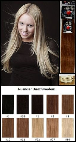 Diazz Sweden-Clip-in - Kit complet-Cheveux 100 % naturels (humains)10