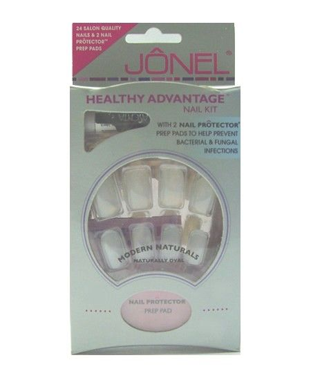 Kit 24 Faux Ongles + Colle Blancs
